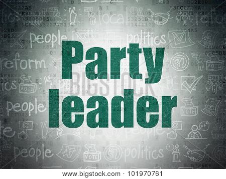 Politics concept: Party Leader on Digital Paper background
