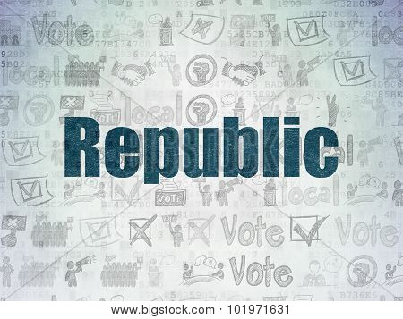 Politics concept: Republic on Digital Paper background