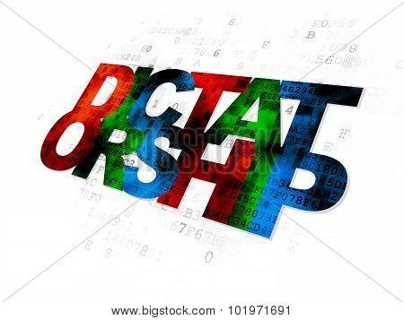 Political concept: Dictatorship on Digital background