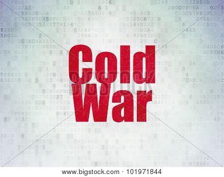 Political concept: Cold War on Digital Paper background