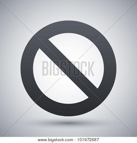 Vector Forbidden Sign Icon