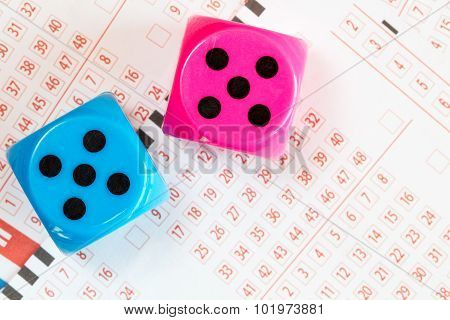 Lotto Ticket And Dice