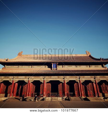 The Majestic Forbidden City in Beijing China Concept