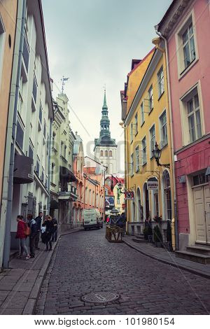 Old streets in Tallinn, Estonia