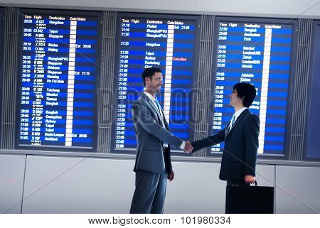 Businessmen Airport Business Commitment Deal Concept