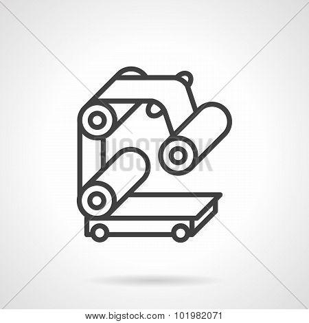 Conveyor part simple line vector icon