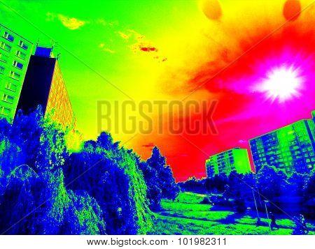 Infrared Sunny City