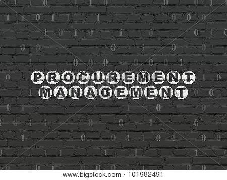 Finance concept: Procurement Management on wall background