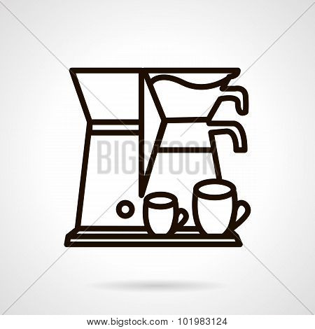 Coffee making appliance line vector icon