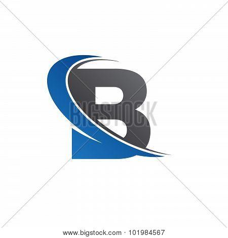 B blue swoosh logo