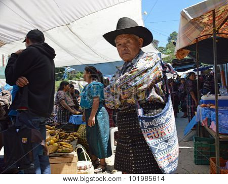 Traditional Elderly Guatemalan Man