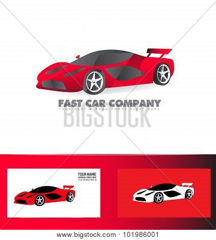 Fast Sport Car Logo Red