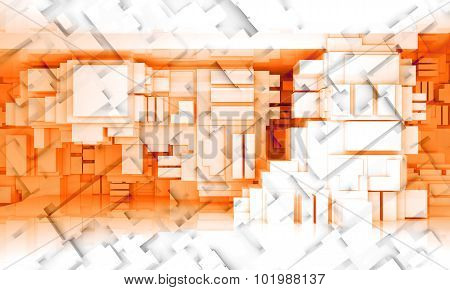 3D Background Texture With Cubic Pattern