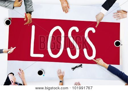 Loss Deduct Recession Debt Finance Bankruptcy Concept