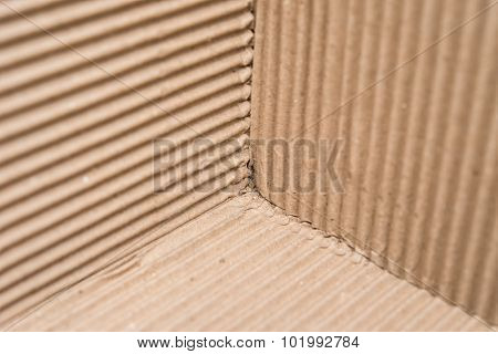 Cardboard Corrugated Pattern At Three Different Angles