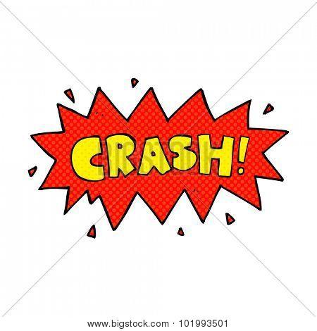 comic book style cartoon comic book crash symbol