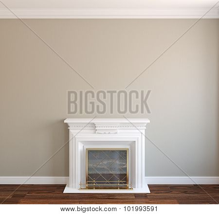 Interior With Fireplace.