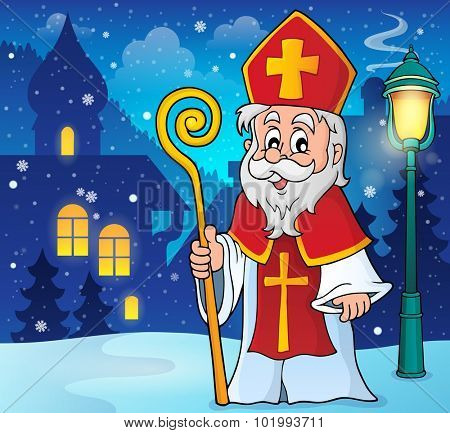 Saint Nicolas theme image 2 - eps10 vector illustration.