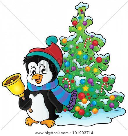 Christmas penguin topic image 3 - eps10 vector illustration.
