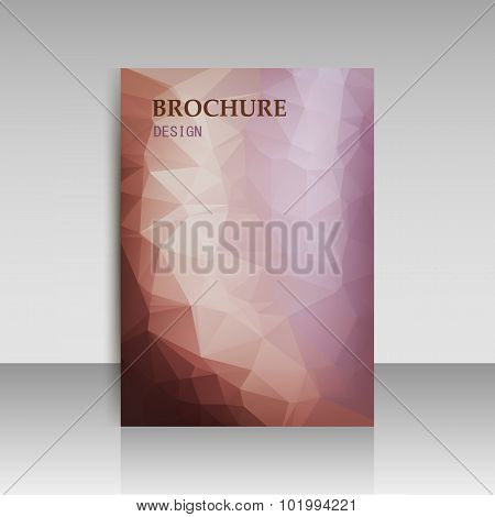 Abstract Modern Cover, Report Brochure, Flyer Template With Geometric Triangular Polygonal Style. Ve