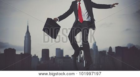 Businessman Taking Risk New York City Concept