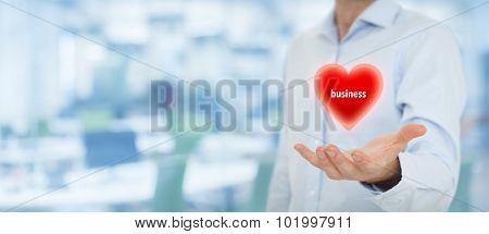 Businessman Love Business