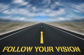 follow your vision poster