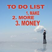 ������, ������: To Do List Make More Money sign or slogan on sky