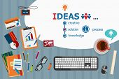 Постер, плакат: Ideas Design And Flat Design Illustration Concepts For Business Analysis