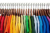 stock photo of pullovers  - Rainbow colors - JPG