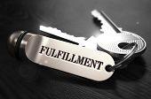 Постер, плакат: Fulfillment Concept Keys with Keyring