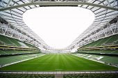 Empty stadium Aviva June 10 2010 in Dublin.