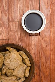 stock photo of soy sauce  - Food ingredients made from soy  - JPG