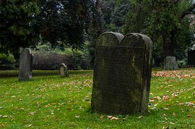 picture of tombstone  - Old cemetery in Germany - JPG