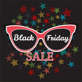 picture of friday  - Vector sale poster advertising Black Friday - JPG