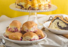 pic of grandma  - Poppy seeds cake stuffed buns homemade like from grandma - JPG