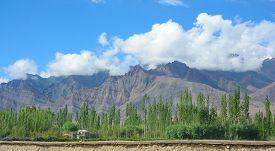 stock photo of karakoram  - View of Ladakh Range - JPG