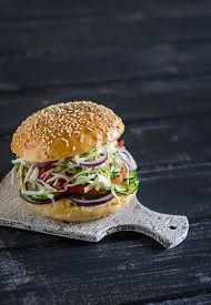 image of veggie burger  - delicious veggie Burger  - JPG