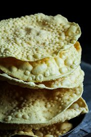 image of urad  - Pappadam Indian cracker snack made with urad daal - JPG