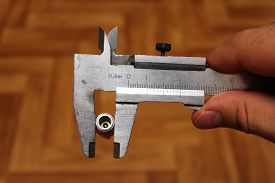 image of vernier-caliper  - Nozzle on the compressor measurement vernier caliper - JPG