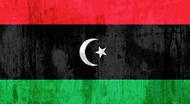 picture of libya  - Illustration of an old and dirty Libya flag - JPG