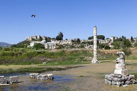stock photo of artemis  - Temple of Artemis is one of the 7 wonders of the world of antiquity - JPG
