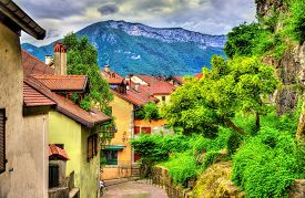 stock photo of annecy  - Street in the old town of Annecy  - JPG
