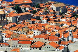 image of former yugoslavia  - View from above on the old town of Dubrovnik Croatia - JPG
