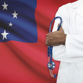 stock photo of samoa  - Concept of national healthcare system series  - JPG