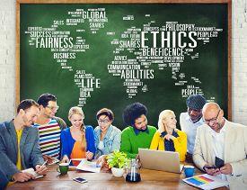 stock photo of moral  - Ethics Ideals Principles Morals Standards Concept - JPG