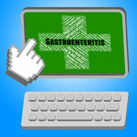 picture of intestines  - Gastroenteritis Online Indicating Intestinal Flu And Ill - JPG