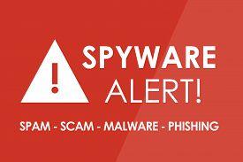 foto of spyware  - SPYWARE Alert concept  - JPG