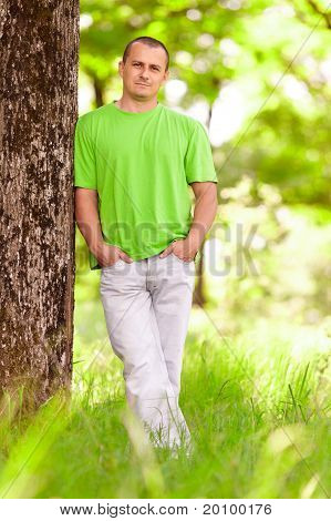 Young Man In The Forest