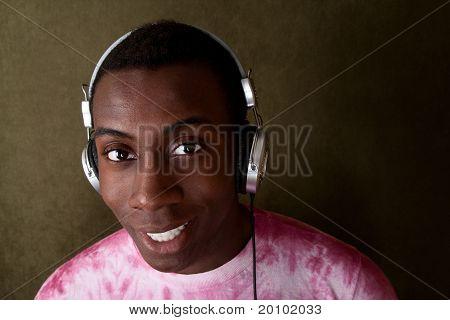 Handsome Man With Headphones